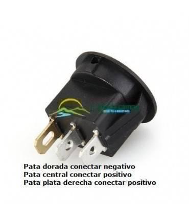 Interruptor redondo led azul 12v